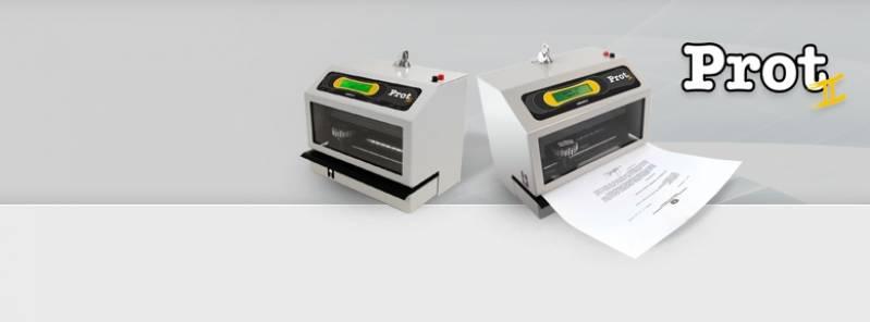 Protocolador de Documentos Preço Cambuci - Protocoladores Elétrico Automático