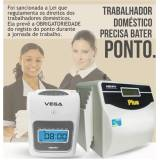 relógios de ponto para empregada doméstica Vila Maria
